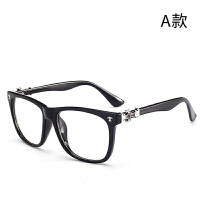 同款款复古黑框眼镜框男大框平光镜架圆脸女潮可配