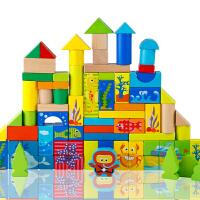 儿童积木玩具宝宝男女孩大块桶装木制3-4-5-6岁以上周岁