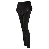 假两件跑步运动裤女防走光提臀健身裤弹力紧身裤速干裤瑜伽裤