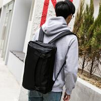 日韩原创多动能双肩包男士学生书包个性时尚单肩斜跨包电脑手提包