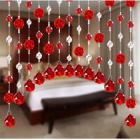 成品水晶珠帘隔断帘门帘风水装饰客厅卧室拱形挂帘窗帘