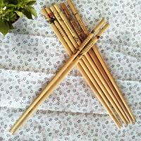 创意竹筷家用无漆无蜡碳化筷子厨房餐具套装木制筷子实木10双装