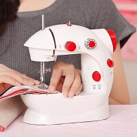缝纫机迷你家用电动缝纫机吃厚简易手动小缝纫机平车衣车202 +扩展台+线包