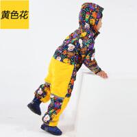 迷彩女童连体滑雪服宝宝户外 儿童滑雪服套装韩国男童冬