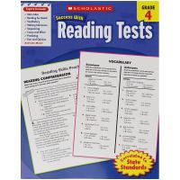 Success With Reading Tests 4 学乐英语阅读测试小学四年级 英文版原版 英文原版美国进口小学教