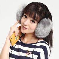 男女冬季耳机可听音乐接电话耳包保暖耳暖仿狐狸毛绒耳套耳罩可爱