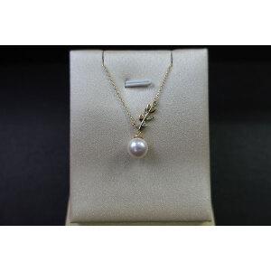 s925银镶钻淡水珠颈链