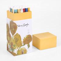 晨光文具中性笔梵高系列画作水笔创意学生24支盒装 AGPA38140.35