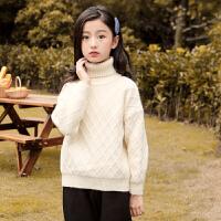 女童毛衣加绒秋冬装大童儿童针织打底衫