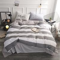 家纺春夏纯棉床上用品四件套北欧全棉1.5m/1.8m单人床品被套床单床笠