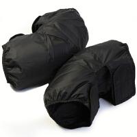 冬季羽绒护膝保暖男女电动车老寒腿护膝骑车防风防寒保暖护腿 黑色