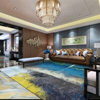 现代简约抽象水墨宜家地毯客厅茶几卧室地毯北欧式长方形定制地毯