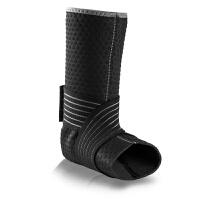 跑步足球篮球护踝运动护具防扭伤防护脚踝脚腕加压带男女脚踝护具 黑色绑带护踝