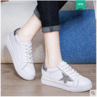 莱卡金顿韩版学生厚底系带鞋休闲板鞋春夏季潮鞋子女新款百搭平底单鞋JBBN1674