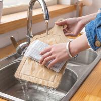 {夏季贱卖}带网海绵擦 厨房百洁布5个装 去污刷锅海绵清洁刷洗碗海绵块