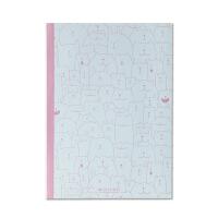 OXFORD APB40800A-3 粉红 40页 简单猫咪手绘系列 软面抄笔记事本学生笔记本 当当自营