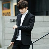 秋冬季男士西服韩版修身毛呢西装外套青年帅气加厚潮流男款小西装 3X