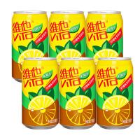 6月维他奶 柠檬茶310ml*6罐 整箱 果味茶饮料 柠檬味 清新激爽 运动休闲饮料