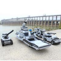 积高兼容乐高积木玩具军事组装模型益智拼装儿童12男孩子10岁-航母