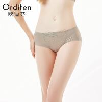 【2件3折到手价约:29】欧迪芬女士内裤低腰平角裤蕾丝性感内XP7505