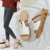 坡跟凉拖鞋女士网红同款新款百搭韩版防滑厚底高跟女鞋子