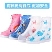 儿童雨鞋套 可爱透明防滑防雨加厚下雨鞋套 小孩玩沙子雨鞋
