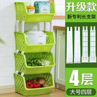 厨房置物架落地多层阳台用品家用玩具菜篮子蔬菜调料架收纳架筐子 1 1层