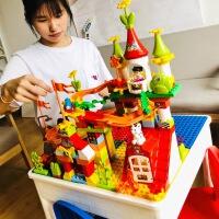 儿童益智拼装积木玩具男孩宝宝玩具拼装航空母舰八合一军事积木1qs