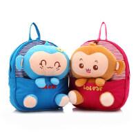 儿童书包 幼儿园韩版可爱男女孩宝宝书包卡通公仔猴子1-3岁