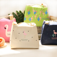 火烈鸟保温饭盒袋便当包手提包防水带饭保温袋铝箔加厚午餐包