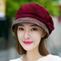 帽子女冬天秋季韩版潮休闲百搭羊毛呢贝雷帽鸭舌帽日系八角帽英伦