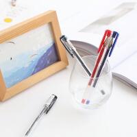 日本um-100文具三菱彩色中性笔透明笔杆水笔 笔芯签字笔0.5mm
