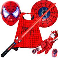 �f圣��和�套�b蜘蛛�b面具道具手套�l射器面罩�^套披�L盾牌�b��