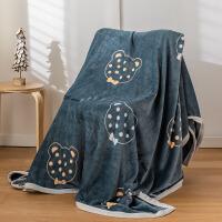 雪貂绒毛毯冬用床单人宿舍学生法兰绒珊瑚绒毯子冬季加厚盖毯被子