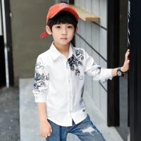 童装男童衬衫长袖2018春装新款儿童白衬衣中大童春秋上衣打底衫潮