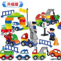 积木玩具拼装汽车大颗粒拼插1-2-3-6周岁宝宝