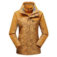 双层冲锋衣男女款三合一两件套防泼水防风保暖登山外套-青藏游D17081