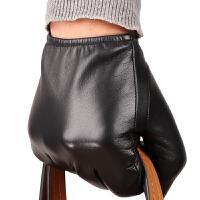 真皮手套短款山羊皮男士触摸屏男式薄保暖冬季加厚