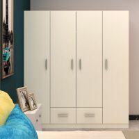 简易2门3门4门衣柜现代经济型组装实木板式收纳柜衣橱大衣柜T