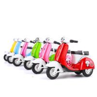 儿童玩具小汽车合金回力摩托车跑车模型可爱电瓶车小摩托车摆件 A款小绵羊一个( 颜色随机)