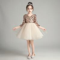 花童礼服女童公主裙洋气主持人蓬蓬纱儿童亮片钢琴演出服秋