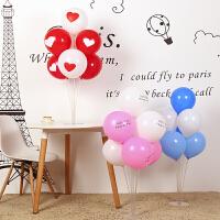 结婚庆用品装饰气球桌飘餐桌气球支架透明生日派对布置立柱 气球桌飘(一套不含气球)