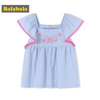 巴拉巴拉童装女童T恤短袖小童宝宝儿童夏装新款韩版宽松上衣