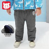 小猪班纳童装男宝宝长裤2017冬装新款男小童裤子儿童保暖运动裤男