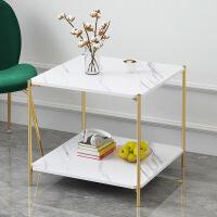 【领券抢购价66元包邮】轻奢茶几 简约小户型多功能桌客厅卧室餐厅双层咖啡桌创意沙发床头桌