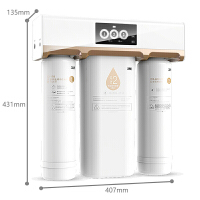 3M净水器 家用净水机 直饮净水机除水垢大流量R8-39G 反渗透纯水机 1:1低废水