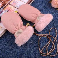羊皮毛一体手套宝宝冬季保暖手套儿童连指闷子幼儿园户外滑雪SN6029 均码