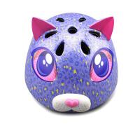 raskullz莱斯狐 3D紫色kitty儿童头盔 自行车溜冰轮滑护具 户外运动儿童安全帽