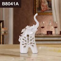 大象摆件一对 陶瓷夫妻象结婚礼物实用新婚礼品闺蜜创意婚庆