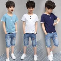 男童夏装新款套装男孩夏季衣服中大童韩版短袖两件套潮衣